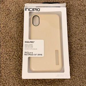 Incipio rose gold iPhone X/iPhone XS phone case